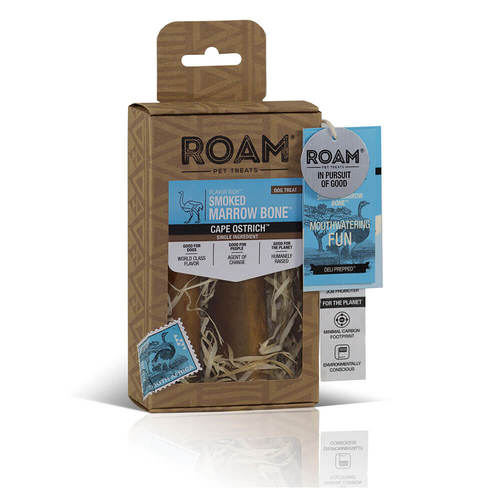 Roam Ostrich Small Marrow Bones (2 Pack)