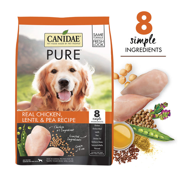 CANIDAE Grain-Free PURE RIDGE Real Chicken Dry Dog Food (12lb, 24lb)