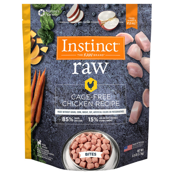 FROZEN RAW Nature's Variety Instinct Medallions Cage Free Chicken Recipe - 3lb