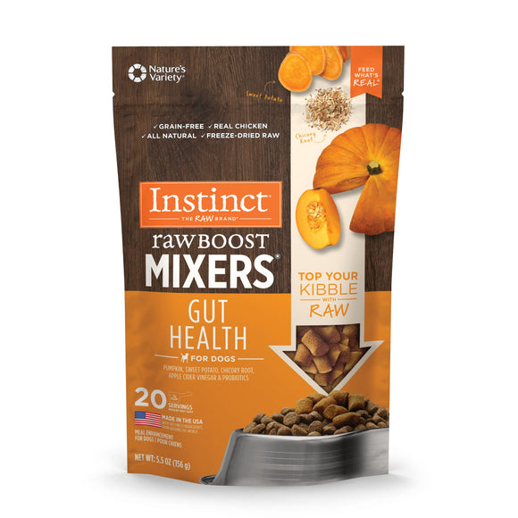 Nature's Variety Instinct Freeze-Dried Raw Boost Mixers Gut Health Pumpkin 5.5oz