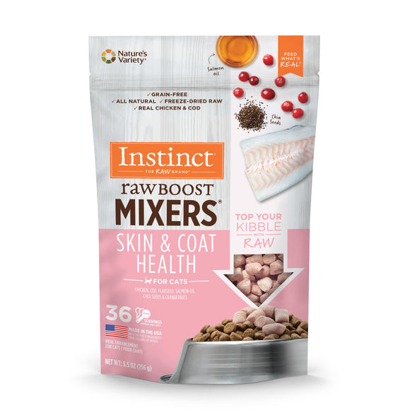 Nature's Variety Instinct Cat Freeze-Dried Raw Boost Mixers Skin & Coat 5.5oz