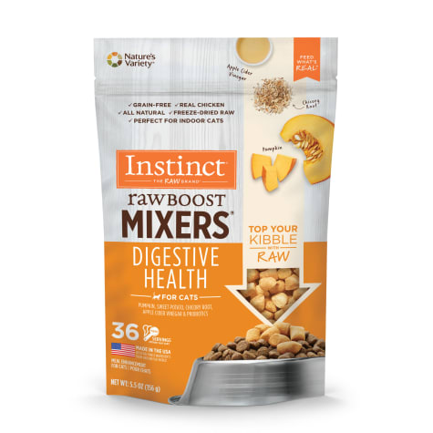Nature's Variety Instinct Cat Freeze-Dried Raw Boost Mixers Digestive Health Pumpkin 5.5oz