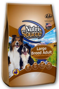 Nutrisource Large Breed Adult Lamb & Rice Dry Dog Food 30lb