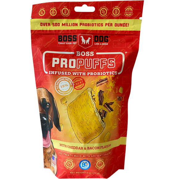 Boss Dog Propuffs Cheddar & Bacon Dog Treats 6oz