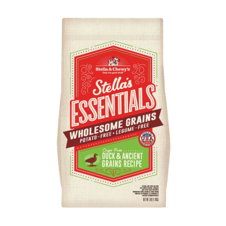 Stella & Chewy's Essentials Ancient Grains Cage-Free Duck Dog Food (3lb, 25lb)