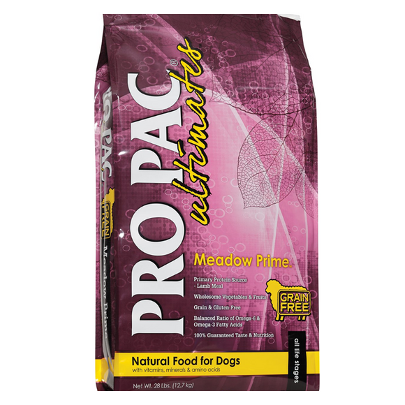 Pro Pac Ultimates Meadow Prime Lamb & Potato Grain-Free Dry Dog Food 28lb