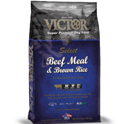 Victor Select Beef Meal and Brown Rice Dry Dog Food 40lb (MAP ENFORCED-IN STORE PURCHASE MAY HAVE LOWER PRICE)