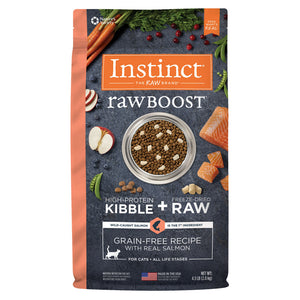 Nature's Variety Instinct Raw Boost Salmon Dry Cat Food 4.5lb