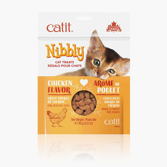 Catit Nibbly Treat  Chicken Cat Treats 3.2oz