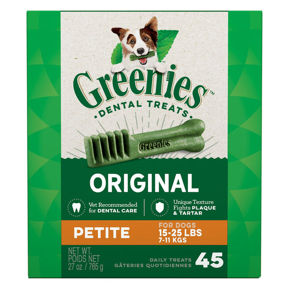 Greenies Petite Dental Dog Treats 45ct