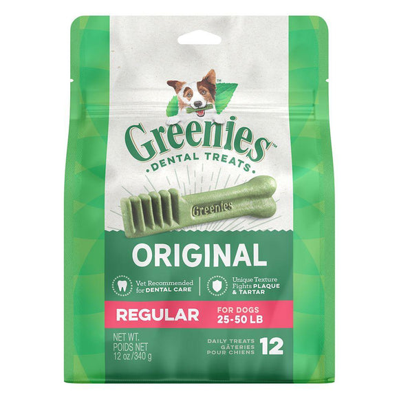 Greenies Regular Dental Dog Treats (12 ct - 27 ct)