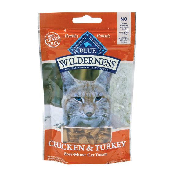 Blue Buffalo Blue Wilderness Chicken & Turkey Cat Treats 2oz