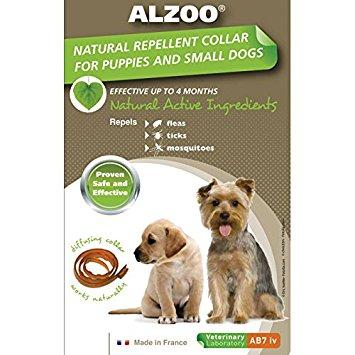 Alzoo Natural Repellent Collar For Puppies/Small Sized Dogs