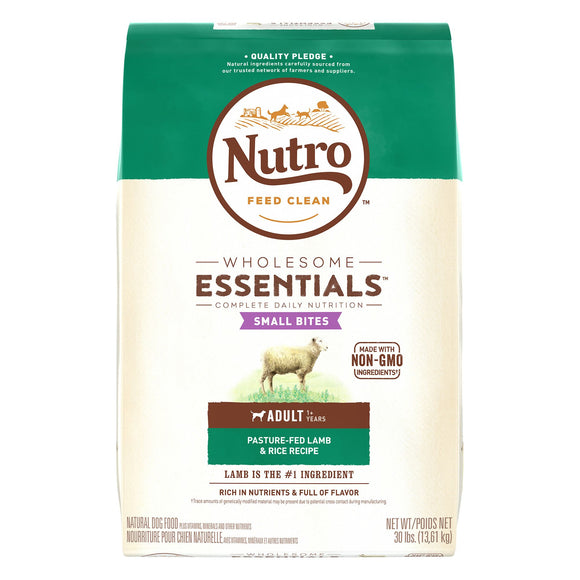 Nutro Wholesome Essentials Small Bites Adult Lamb & Rice Recipe Dry Dog Food 30lb