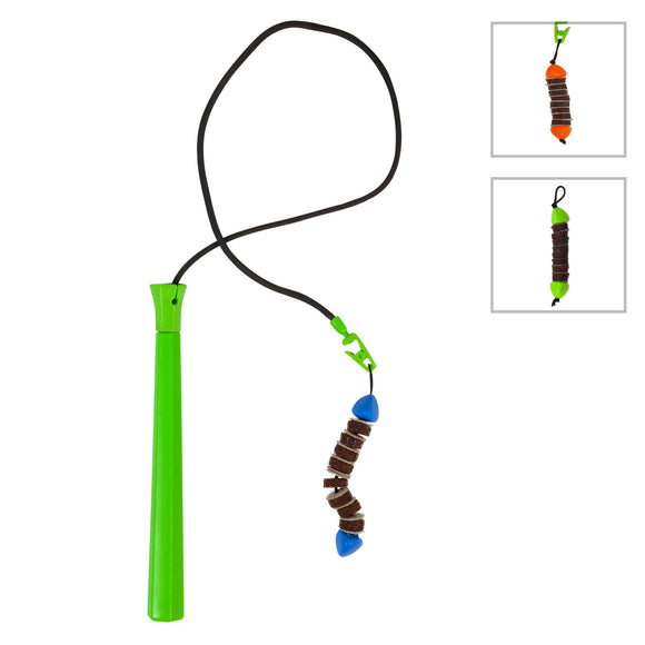 Jackson Galaxy Mojo Maker Ground Prey Wand Teaser Cat Toy (Color Varies)