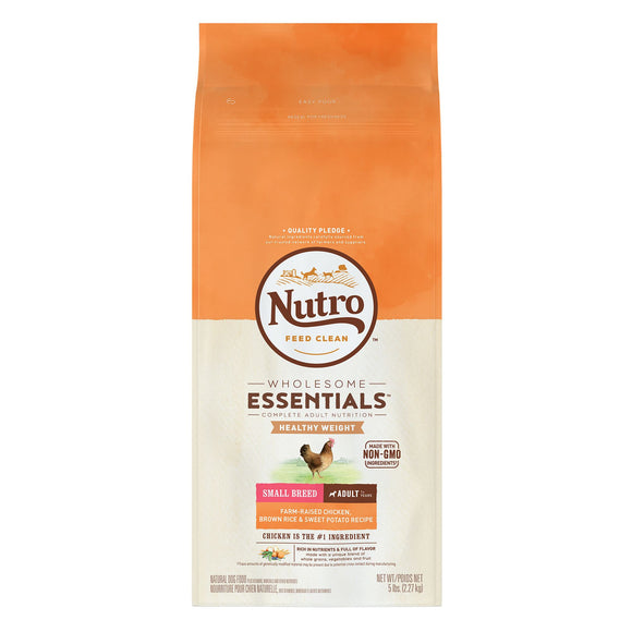 Nutro Wholesome Essentials Small Breed Adult Weight Management Chicken, Brown Rice & Sweet Potato Formula Dry Dog Food 5lb