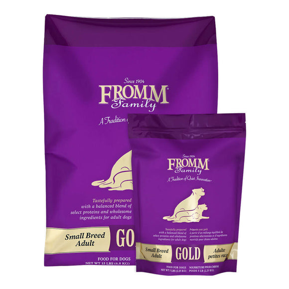 Fromm Gold Small Breed Adult Chicken Dog Food (5lb, 15lb)