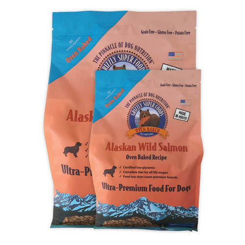 Grizzly Super Foods Salmon Oven-Baked Recipe Dog Food (2oz - 3lb)