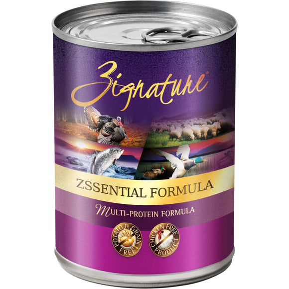 OUT OF STOCK Zignature Zssentials Ingredient Formula Grain-Free Canned Dog Food - 13oz