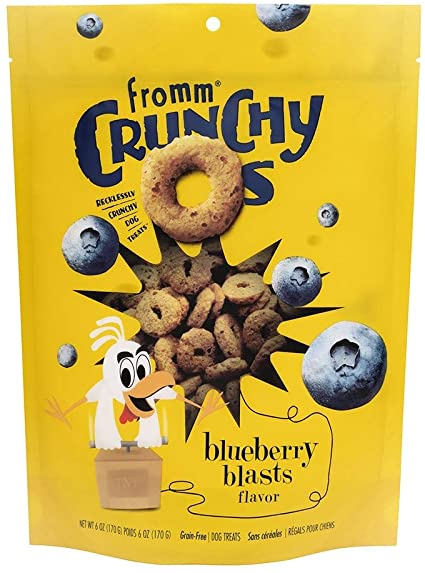 Fromm Crunchy O's Dog Treats - Blueberry