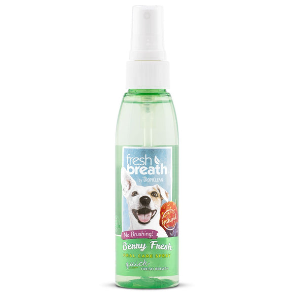 Tropiclean Oral Care Spray Berry Fresh 4 oz Bottle