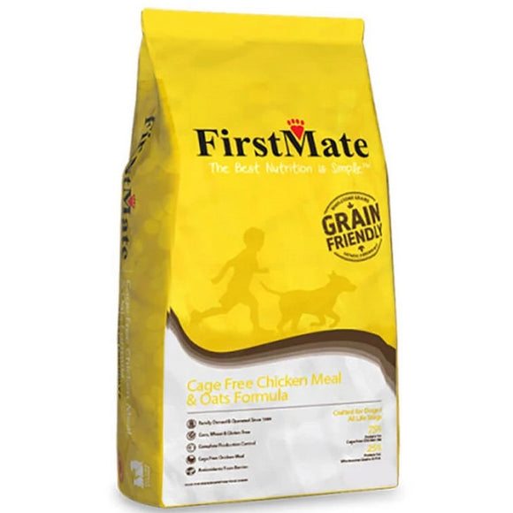 FirstMate Grain Friendly Cage Free Chicken Meal & Oats Dry Dog Food (5lb - 50lb)
