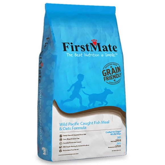 FirstMate Grain Friendly Wild Pacific Caught Fish & Oats Dry Dog Food (5lb - 50lb)