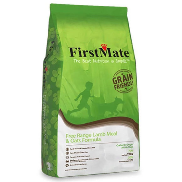FirstMate Grain Friendly Free Range Lamb & Oats Dry Dog Food (5lb - 50lb)
