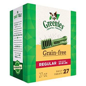 Greenies Grain-Free Regular Dental Dog Treats 27oz