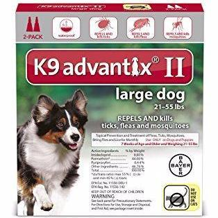 K9 Advantix II Large Dog 21 - 55lb (2 dose - 6 dose) - Qualifies for No Minimum Order +Free Ship to Yuba City