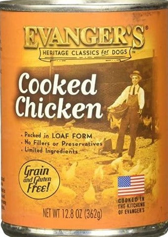 Evanger's Classic Cooked Chicken Dinner Canned Dog Food 12.8oz