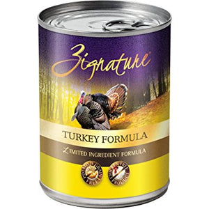 OUT OF STOCK Zignature Turkey Limited Ingredient Formula Grain-Free Canned Dog Food - 13oz