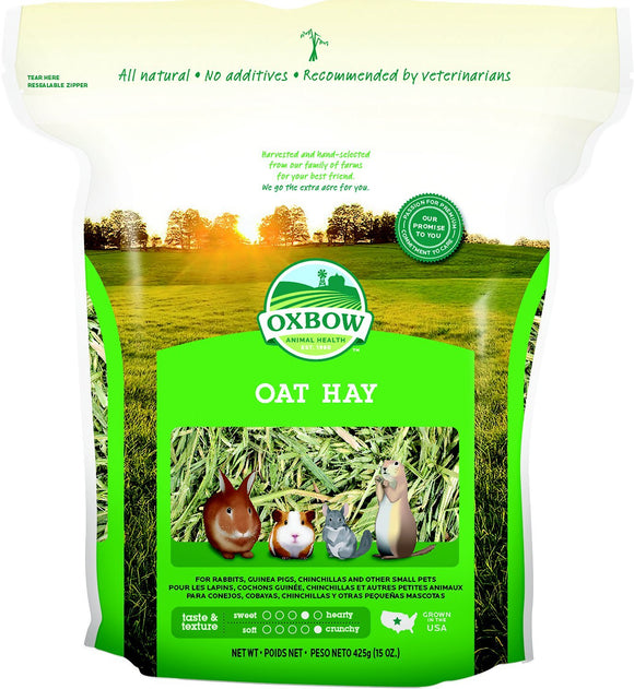 Oxbow Oat Hay Small Animal Food 15 oz