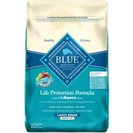 Blue Buffalo Large Breed Adult Fish & Oatmeal 30lb - MAP ENFORCED-IN STORE PURCHASE MAY HAVE LOWER PRICE.