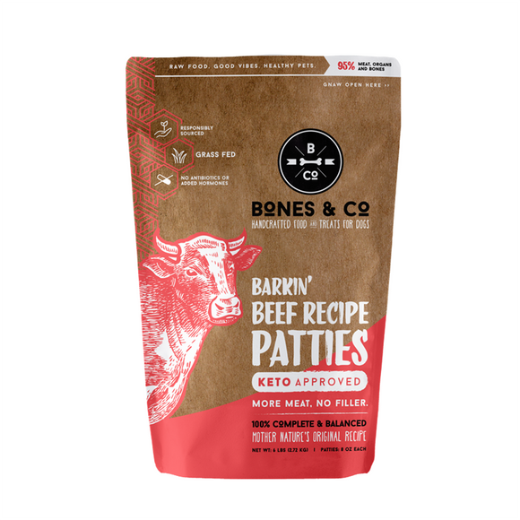 Bones & Co Beef Frozen Raw Patties