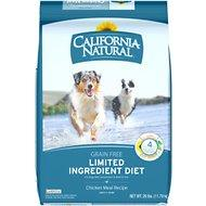 California Natural Adult Limited Ingredient Grain Free Chicken Meal Recipe Dog Food 26lb