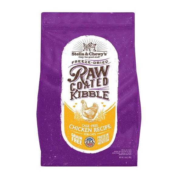 Stella & Chewy's Cat Cage-Free Chicken Raw Coated Kibble 5lb