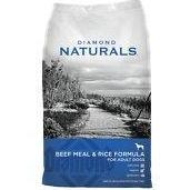 Diamond Naturals Beef Meal & Rice Formula Adult Dry Dog Food, 40lb