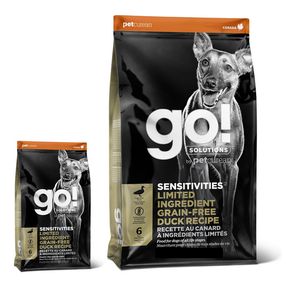 Go! SENSITIVITIES Limited Ingredient Duck Dry Dog Food (3.5lb, 22lb)