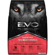 EVO Grain Free Red Meat Formula Large Bites Dry Dog Food - For Adult, Puppy, or Senior - 28.6lb