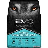 EVO Grain Free Herring & Salmon Formula Adult Dry Dog Food 28.6lb - For Adult, Puppy, or Senior