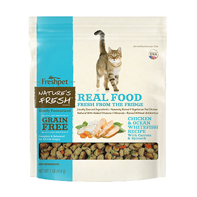 Freshpet Nature's Fresh® Cat Grain Free Chicken & Ocean Whitefish 1lb (Must Be Home 1-9PM)