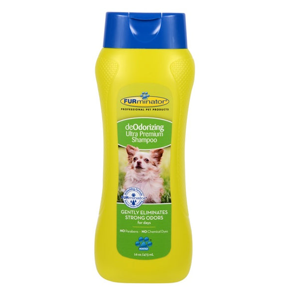 FURminator DeOdorizing Ultra Premium Shampoo for Dogs 16 oz Bottle