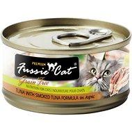 Fussie Cat Premium Tuna with Smoked Tuna Formula in Aspic Grain-Free Canned Cat Food, 2.82-oz
