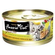 Fussie Cat Premium Tuna with Anchovies Formula in Aspic Grain-Free Canned Cat Food, 2.82-oz