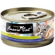 Fussie Cat Premium Tuna with Threadfin Bream Formula in Aspic Grain-Free Canned Cat Food, 2.82-oz