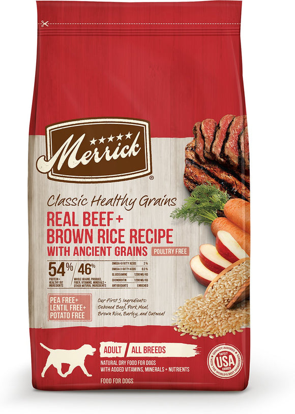 Merrick Classic Ancient Grains Beef (4lb, 25lb)