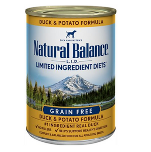 Natural Balance L.I.D. Limited Ingredient Diets Duck & Potato Formula Grain-Free Canned Dog Food 13.2oz