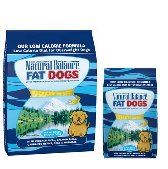 Natural Balance Fat Dogs Chicken & Salmon Dry Dog Food (5lb, 15lb, 28lb)