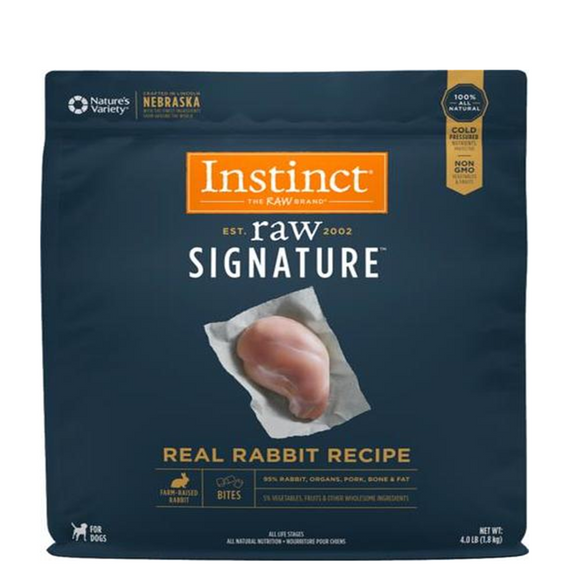 Instinct Signature Frozen Raw Bites Rabbit 4LB
